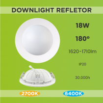 Downlight Refletor 18W